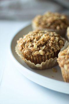 whole wheat apple oatmeal muffins - Well Floured Grab And Go Breakfast, Sweet Breakfast, Breakfast Recipes, Breakfast Club, Brunch Recipes, Apple Recipes, Muffin Recipes, Fall Recipes, Bread Recipes
