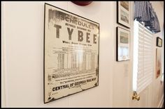 LITTLE HOUSE: Vintage style sign featuring the train schedule of the train that used to run from Savannah to Tybee. It used to be the only way to get to Tybee besides boat.