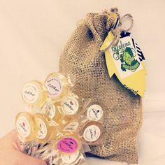 LolliHops® Gift Set - 12 Gourmet Assorted Hop Candy Lollipops With Burlap Gift Bag by Yakima Hop Candy on Gourmly
