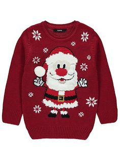 Santa Claus Christmas Jumper, read reviews and buy online at George at ASDA. Shop from our latest range in Kids. Your little one will be feeling fantasticall...
