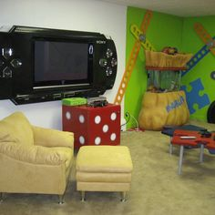 Sony psp cover for your flat screen tv! Uber fun for your game room or man cave!