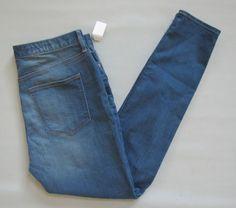 """New Gap 1969 Jeans 33 16 XL Tall High Rise Resolution Skinny Windward 34"""" 2014 #GAP #SlimSkinny"""