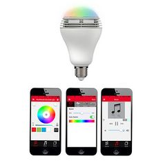 A lightbulb that changes colors *and* acts as a speaker. | 26 Ingenious Products That Will Literally Light Up Your Life