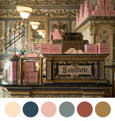 wesandersonpalettes:M. Gustave: Mendl's is the best.