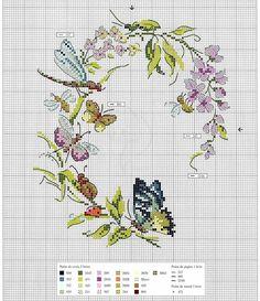 Butterfly Cross Stitch, Cross Stitch Love, Cross Stitch Animals, Cross Stitch Flowers, Cross Stitch Charts, Cross Stitch Designs, Cross Stitch Patterns, Butterfly Pattern, Cross Stitching