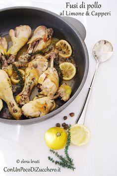 Fusi di pollo al limone e capperi: http://conunpocodizucchero.wordpress.com/2014/02/17/fusi-di-pollo-al-limone-e-capperi/