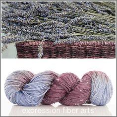 Expression Fiber Arts, Inc. - BASKET OF LAVENDER BEADED SILK WORSTED , $46.66 (http://www.expressionfiberarts.com/products/basket-of-lavender-beaded-silk-worsted.html)