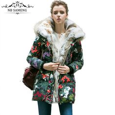 >> Click to Buy << 2017 Real Fur Collar Women Camouflage Plus Size Winter Down Parka Thick Warm Winter Coat Hood Jacket Overcoat NYF5017 #Affiliate