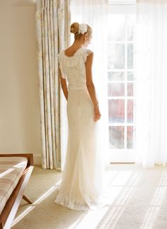 Wedding gown by Vera Wang. See this lovely wedding on Style Me Pretty: http://www.StyleMePretty.com/2014/02/26/king-family-vineyards-wedding/ Photography: Jen Fariello