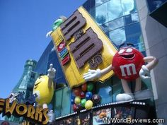 M World, and the Coke Store in Las Vegas