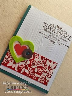 Learn the pearly distressed background technique Sabrina used to make this card. This card features Smooch Spritz, and Spritzers. | Clearsnap Blog