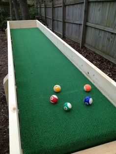 My sons and their friends love this game, so I wanted to give them a table for the back yard. Carpet ball is played with pool balls. Each player places five balls on the table within arms reach of his end. Players take turns rolling (tossing) the cue ball down the table, trying to knock his opponents balls off the playing surface. The official rules to Carpet Ball are available here:http://www.carpetball.net/carpetball_rules.htm NOTE: This is my first Instructable.