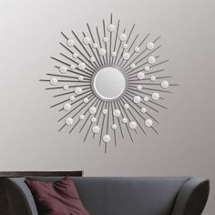 Round Starburst Mirror, finally found it at Costco Home Decor Mirrors, Wall Decor, Starburst Mirror, Living Room Accessories, Decoration, Home Art, Living Room Designs, Paint Colors, Costco