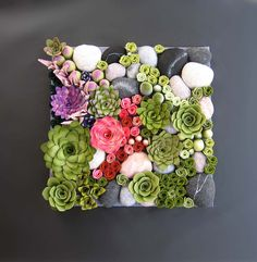 vertical garden felt plants arrangement ready to ship by miasole.