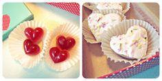 #Valentines desserts. #SCD #Paleo Peppermint Marshmallow hearts and Raspberry lemon gummy hearts.