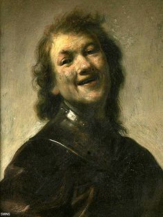 rembrandt laughing - self-portrait