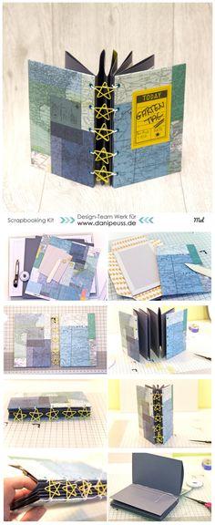 Minialbum mit Sternenclip-Bindung dem #dpNovemberkit16 von Mel für www.danipeuss.de #crate #dpcardstockaddon
