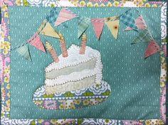 Eat Cake Happy Birthday Mug Rug PDF mini quilt pattern Cute Birthday Cakes, Birthday Mug, Vintage Birthday, Happy Birthday, Birthday Money, Birthday Stuff, Birthday Quotes, Birthday Decorations, Birthday Cards