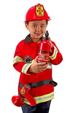Melissa and Doug Fire Chief Role Play Costume Dress-Up Set pcs) * Check out this great product. (This is an affiliate link) Costume Garçon, Dress Up Costumes, Halloween Costumes, Fireman Costume, Halloween Gifts, Happy Halloween, Pretend Play, Role Play, Melissa & Doug