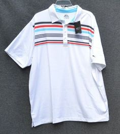 5eb7c8493e6 Slazenger Men s Shirt Short Sleeve White Golf Polo Big Size XXL NWT