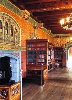 The Library Cardiff Castle  Designed by William Burges.