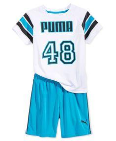 Puma Little Boys' 2-Pc. Jersey T-Shirt & Shorts Set