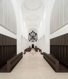 design museum designs of the year 2014 nominates st moritz church, augsburg, germany, interior renovation – designed by john pawson Sacred Architecture, Church Architecture, Religious Architecture, Chinese Architecture, Interior Architecture, Interior Design, Sustainable Architecture, Landscape Architecture, Modern Interior