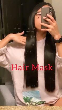 Hair Mask At Home, Best Diy Hair Mask, Hair Masks For Dry Damaged Hair, Hair Tips Video, Diy Hair Treatment, Silky Smooth Hair, Diy Hair Care, Hair Thickening, Diy Hairstyles