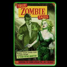 Zombie Tales Metal Sign