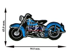 Big Bike Motorcycle Logo-004 Sew Iron On Patch Applique T-Shirt Jeans Cap