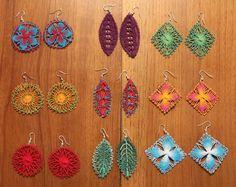 Nanduti earrings, Paraguay