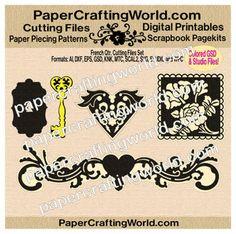 French Quarter Vintage (SVG & Other Formats) Cutting File Set. Direct Link: http://www.papercraftingworld.com/item_930/French-Quarter-Vintage-Elements-CF-SET.htm