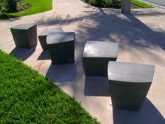 Concrete outdoor benches. Visit the slowottawa.ca boards >> http://www.pinterest.com/slowottawa/