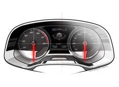 SEAT Leon ST Interior - Instrument Gauges Design Sketch