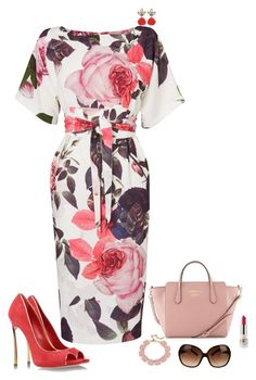 """""""Roses are pink"""" by julietajj on Polyvore featuring Phase Eight, Casadei, Gucci, Fornash, Tory Burch and CARGO"""