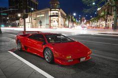 Todos os tamanhos | Red Lamborghini Diablo at night | Flickr – Compartilhamento de fotos!