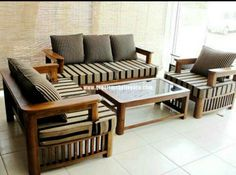 wood living room sofa and table in small modern living room interior rh pinterest com