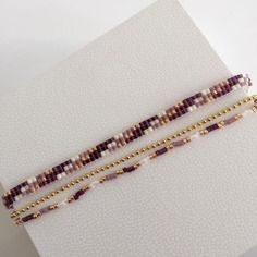 Loom Bracelets, Loom Beading, Violet, Beaded Jewelry, Creations, Beads, Rings, Gold, Crafts