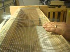 """▶ how to make a topbar beehive - and a really good idea for an entrance.  I would side mount it so you can put insulation at either end of the hive for winter.  I would also add a small """"landing pad"""". I may also use cedar for the body of the hive as it is a natural insect repellant.  I also like the idea of a viewing window."""
