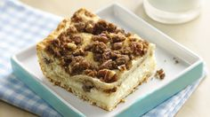 Sweet Cheese Delights - An easy WOW from a Crescent Cook: Creamy dessert squares are so easy, you can make them, start to delicious finish, in just 30 minutes. From Pillsbury Recipes Just Desserts, Delicious Desserts, Dessert Recipes, Bar Recipes, Fall Desserts, Yummy Food, Crescent Roll Recipes, Crescent Rolls, Crescent Dough