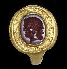 A ROMAN CARNELIAN RING STONE                                                                                                                                                                       CIRCA 1ST CENTURY A.D.