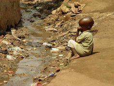 Slum Kampala open sewage
