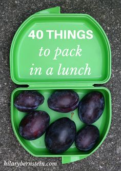 If you're suffering from a major lack of packed lunch creativity, I've brainstormed 40 things to pack in a lunch.