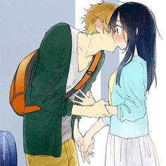 Safebooru is a anime and manga picture search engine, images are being updated hourly. Manga Couple, Anime Love Couple, Anime Couples Manga, Tamako Market, Cute Couple Art, Cute Couples, Anime Pixel Art, Anime Art, Super Easy Drawings