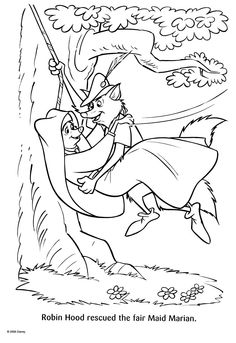 robin hood coloring page - disney robin hood on pinterest robin hoods disney