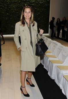 Aerin Lauder. Love the trench, the shoes.