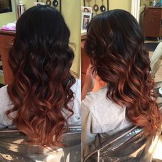 Balayage Ombre black to light ombre. Love this style. Hair idea.