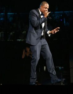 Jay Z in a tux for New Years Eve at Barclays d0933b819943