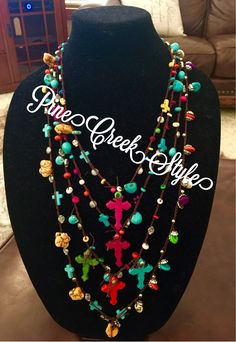 5 Crosses Day of the Dead Necklace from PineCreekStyle