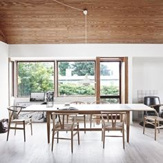 the scandinavian home of architect pernille arends Great work space Modern Dining, Room, Room Design, Interior, Home, Modern Dining Room, House Interior, Scandinavian Dining Room, Wainscoting Styles